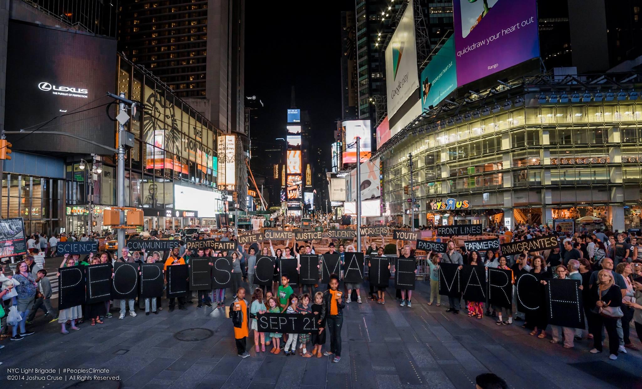 Ilmastotempaus New Yorkissa. Kuva: Joshua Cruse